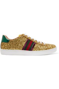 d1ad77db950 Gucci Pearl Web Trim Trainers ( 860) ❤ liked on Polyvore featuring shoes