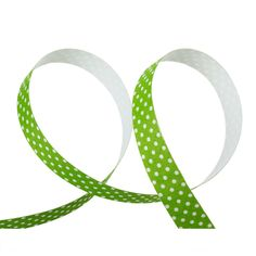 """5/8"""" Lime Green Polka Dots Sticky Fabric Tape, adhesive on back, 4 meter roll  adh0014 by SmartParts on Etsy"""
