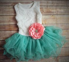 Hey, I found this really awesome Etsy listing at https://www.etsy.com/listing/218639759/white-caribbean-green-toddler-girls-tutu