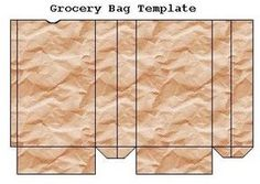 Miniature grocery bag template. Tons of printables on this site, which is in…