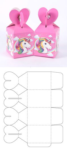 The best ideal box for your candy bar or to give candies at parties. Cool Paper Crafts, Paper Crafts Origami, Diy And Crafts, Foam Crafts, Diy Gift Box Template, Paper Box Template, Origami Templates, Box Templates, Geometric Origami