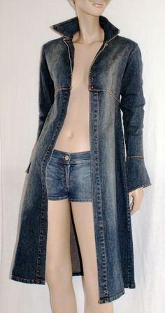 "80's Back!! Amazing & Original Woman Denim Dust Coat Giacca Lunga Spolverino Donna Jeans Vintage Anni 80 ""JEANS  CASUAL"" Boho Taglia 40/42 di BeHappieWorld su Etsy"