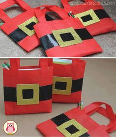Lembrancinhas Criativas para Natal Christmas Crafts For Kids To Make, Christmas Card Crafts, Christmas Gift Bags, Simple Christmas, Kids Christmas, Employee Appreciation Gifts, Christmas Tree Pattern, Christmas Party Decorations, Advent