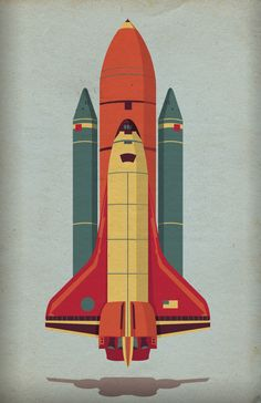 Space Shuttle by Christiana Del Vecchio, via Behance