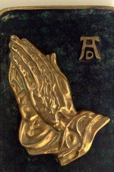 Albrecht Dürer's praying hands brass relief by MerryLegsandTiptoes