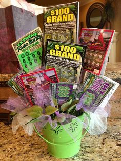 For the Senior Citizen who hates flowers but LOVES lottery tickets. Happy Mother's Day Mom! Win Big