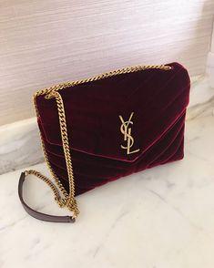 0ea27f065450e2 Heart Eyes All the Way | YSL Red Velvet Bag Gold Chain Luxury Bags, Luxury