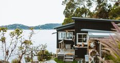 Shack up. Loft Style Bedroom, Sandstone Fireplace, Termite Damage, Waterfront Cottage, Wooden Ladder, Beach Shack, Going Fishing, Open Plan, Cladding