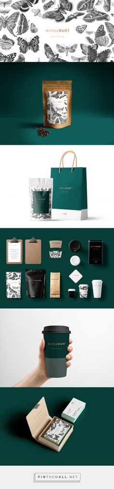 Moth & Rust Coffee Brewery Branding and Packaging by Ruan Klopper | Fivestar Branding Agency – Design and Branding Agency & Curated Inspiration Gallery