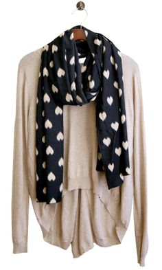 Love Is More Than a Fuzzy Feeling Scarf, Black  $12 Ready for cooler weather!