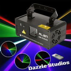 Just Arrived! Make Sure You Check Out Dazzle Studio & Fine Furnishing's Alien [DM-RGB400]... Available Now At Our Store! Here's The Link!  http://www.dazzlestudios.net/products/alien-dm-rgb-400-400mw-rgb-aerial-stage-laser-projector?utm_campaign=social_autopilot&utm_source=pin&utm_medium=pin