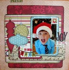 #papercraft #christmas #scrapbook #layout by kristie