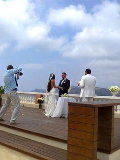 A wedding on Oia Mansion's terrace! Oia, Santorini Island, Greece www.oiamansion.com