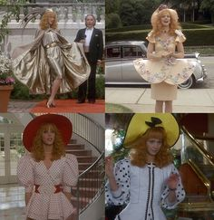 """Shelley Long in """"Troop Beverly Hills"""" Beverly Hills Movie, Troop Beverly Hills, Dog Show, Cool Costumes, Style Icons, Pop Culture, Harajuku, Party Dress, Tv Quotes"""