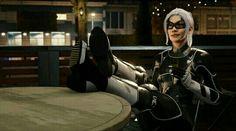 Black Cat from Spiderman Spiderman Black Cat, Black Cat Marvel, Spiderman Movie, Amazing Spiderman, Spiderman Cosplay, Spider Man Ps4, Spider Gwen, Ps4 Black, Female Villains