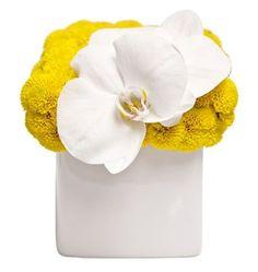 Retro Delight Floral arrangement by Jennifer McGarigle at FLORAL ART