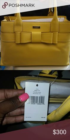 sunshine yellow bow tie purse Brand new and ready to show off Michael Kors Bags Shoulder Bags