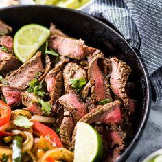 Easy Flan Recipe {Only 5 Ingredients!} - Isabel Eats Steak Fajita Marinade, Steak Fajitas, Skirt Steak, Carne Asada, Enchilada Sauce, Flour Tortillas, Chicken Enchiladas, Steak Recipes, Mexican Food Recipes