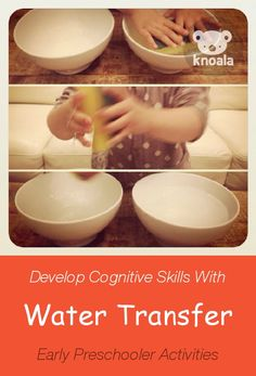 #Knoala Early Preschooler activity 'Water Transfer' helps little ones develop Cognitive, Sensory and Motor skills. Click for simple instructions