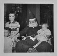 Sitting on Santa's lap ~ Candler Arts