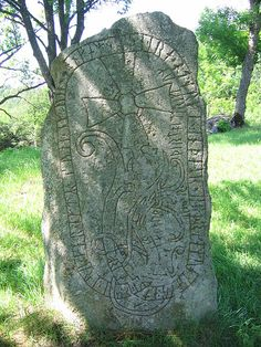 Runestone U 73 - The Greece runestones are about 30 runestones containing information related to voyages made by Norsemen to the Byzantine Empire. They were made during the Viking Age until about 1100 and were engraved in the Old Norse language with Scandinavian runes.