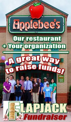 Host a Flapjack Fundraiser Event - Applebees Restaurants. Partnering with an established restaurant is a great way to maximize fundraising $$s at a low risk to your event!