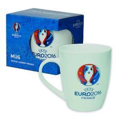 La taza oficial de la UEFA EURO 2016: Taza de café con el logo de la Eurocopa 2016, una de las competiciones de fútbol más importantes del mundo.