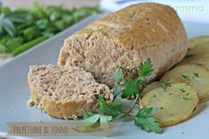 Polpettone al tonno semplice veloce economico e gustoso Cole Slow, Antipasto, Arancini, Fish Dishes, Meatloaf, Banana Bread, Food And Drink, Healthy Recipes, Cooking