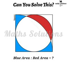 Geometry Problems, Math Problems, Math Tutorials, Maths Solutions, Problem And Solution, Blue Area, Mathematics, Learning, Books