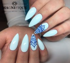 Blue Nails Café del Mar Bella armata Indigo Nails Lab Sommer Nails Art