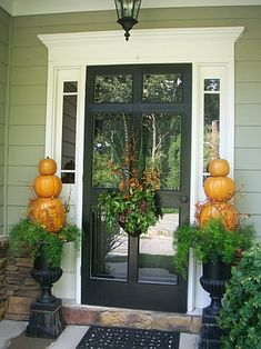 fall front door.....love the way the wreath is hung a little lower than usual. You can still see your guest arrive :)