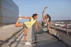#yoga #thrivesociete #print #yellow #olive #friends #losangeles #skyline #DTLA #stretch
