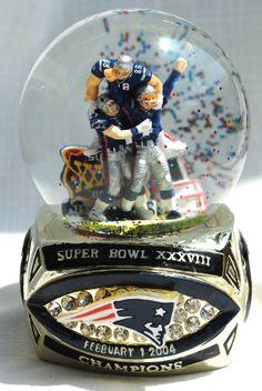 New England Patriots Snow Globes