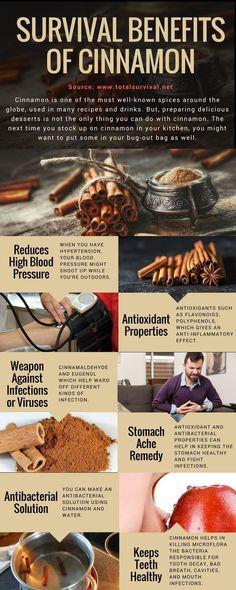 Survival Tips, Healthy Lifestyle Tips:7 Survival Benefits of Cinnamon. #natural #healthy #cinnamon #survival #offgrid #survivaltips