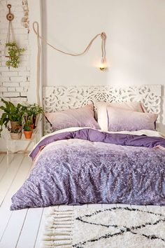 Embrace your love of sleeping, being alone, and artistic sensibilities in the purple, sea green palette.