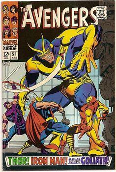 SILVER AGE 1968 AVENGERS #51 MARVEL COMICS BUSCEMA ARTWORK / THOR / IRON MAN / GOLIATH!!
