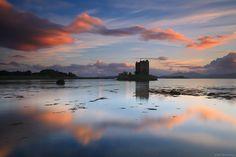 Stalker Castle - Atardecer en el castillo de Stalker (Escocia)