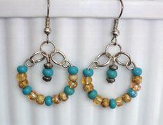 Dangle Earrings Beach Themed Earrings Hoop by uniquelyyours2010