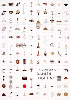 Plakat med lamper af dansk design. Kan købes hos Plakatforretningen.dk!
