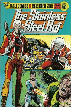 Harry Harrison, best known for his character Jim DiGriz, the Stainless Steel Rat, and the novel Make Room! Comics Uk, Buy Comics, Sci Fi Comics, Read Comics, Comic Book Covers, Comic Books Art, Comic Art, Book Art, Harry Harrison