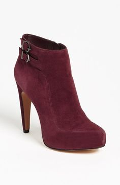 Burgundy booties. i'm in love!