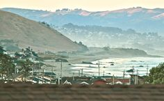Looking out at Morro Bay from Cayucos.