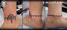 """ankle bracelet with dreamcatcher"" done by Ravi Gohel at Black Art Tattooz.  #tattoo #tattooing #tattooed #girl #tattooedgirl #ink #inking #inkedgirl #inked #ankle #legtattoo #dreamcatcher #bracelet #loved #coloredtattoo #art #artists #positive #good #enjoyed #tattoosbyravi #blackarttattooz"