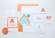 fig. 2 | Letter Perfect | tangerine & turquoise