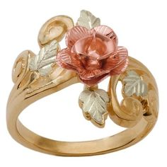 Black Hills Gold Womens Ring with Rose from Coleman: Black Hills Gold Jewelry