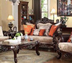 McFerran Home Furnishings - SF6788 Loveseat in Dark Brown - SF6788-L