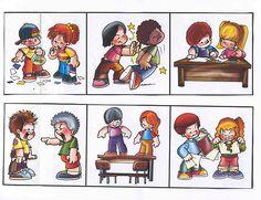 Chování ve třídě - barevné obrázky