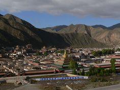 Labrang Monastery in mountain town Xiahe, China