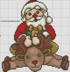 Babbo natale thun schema punto croce by on deviantart navidad пост Xmas Cross Stitch, Counted Cross Stitch Patterns, Cross Stitch Charts, Beaded Christmas Ornaments, Christmas Cross, Minnie Baby, Plastic Canvas Patterns, Machine Embroidery, Needlework