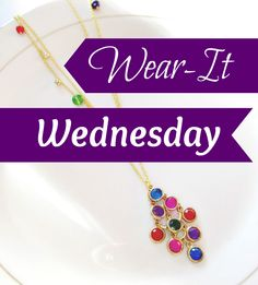 Showcasing #vintage #upcycled #necklaces and #earrings in this week's Wear-It Wednesday post! Katya Valera #jewelry on the Life, KV Style blog.